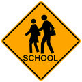 School Crossing Sign Royalty Free Stock Images