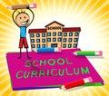 School Curriculum Displays Education Courses 3d Illustration