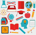 School design over gray background vector illustration Stock Photography