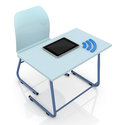 School desk with tablet Stock Photography
