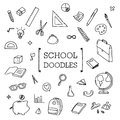 School Doodle, Hand drawing styles of School stuff Royalty Free Stock Photo