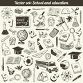 School and education doodles vector collection Royalty Free Stock Images