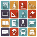 School and education flat icons. Vector set. Royalty Free Stock Photo