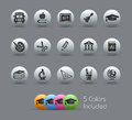 School & Education Icons // Pearly Series Royalty Free Stock Image