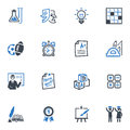 School and education icons set blue series this contains that can be used for designing developing websites as well as printed Stock Photos