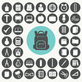 School and education icons set. Royalty Free Stock Photo