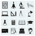 School and education icons set of vector illustration Stock Images