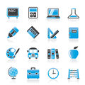School and education icons vector icon set Stock Photography