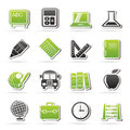 School and education icons vector icon set Stock Image