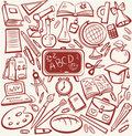 School and education sketch set Royalty Free Stock Images