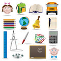 School and education vector icon set Royalty Free Stock Photo