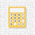 School and education workplace item. Vector flat illustration of school supplie. Electronic calculator in flat style. Infographic