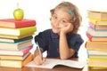 School-girl Stock Afbeelding