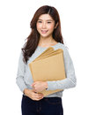 School girl with folder Royalty Free Stock Photo