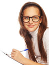 School girl picture of learning Stock Photography