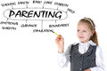 School girl w plan of parenting Royalty Free Stock Photo