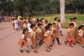School girls visiting humayun s tomb complex in delhi india it was the first garden on the indian subcontinent Stock Image