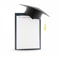 School graduation blank on a white background Royalty Free Stock Photos