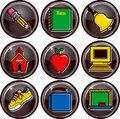 School Icon Buttons Royalty Free Stock Photo