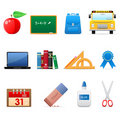 School icon set Stock Photos