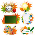 School icon set Stock Images