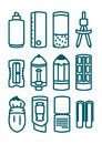 School icon set various item Royalty Free Stock Photography