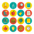 School icon set vector illustration eps contains transparencies Royalty Free Stock Image