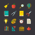 School icon set vector illustration eps contains transparencies Stock Images