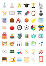 School icons Royalty Free Stock Photography