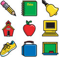 School Icons 2 Stock Photos
