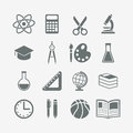 School icons Stock Image