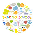 School icons back to Stock Image