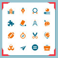School icons  | In a frame series Royalty Free Stock Photos