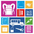 School icons over white background vector illustration Stock Photos