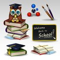 School icons set 2 Royalty Free Stock Photo