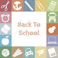 School icons space for text or photo Stock Images