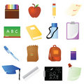 School Items Stock Photo