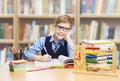 School Kid Education, Student Boy Studying Books, Little Child i
