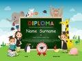 School Kids Diploma Certificat...