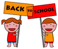 School kids going back to Stock Images