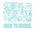 School linear icon. Education design illustration. Back to schoo