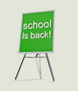 School message for students on green blackboard Stock Images