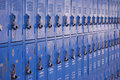 School metal lockers Stock Image