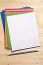 School notebooks and pencil Royalty Free Stock Photo