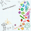 School notepad Stock Photography