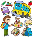 School objects collection Royalty Free Stock Photos