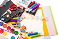 School and office stationary. Back to school concept Stock Image