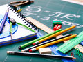 School office supplies . Royalty Free Stock Images