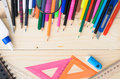 School and office supplies frame Royalty Free Stock Photo