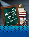 School is Out for Summer - Sea Waves Royalty Free Stock Photo